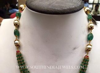 Simple Gold Emerald Mala