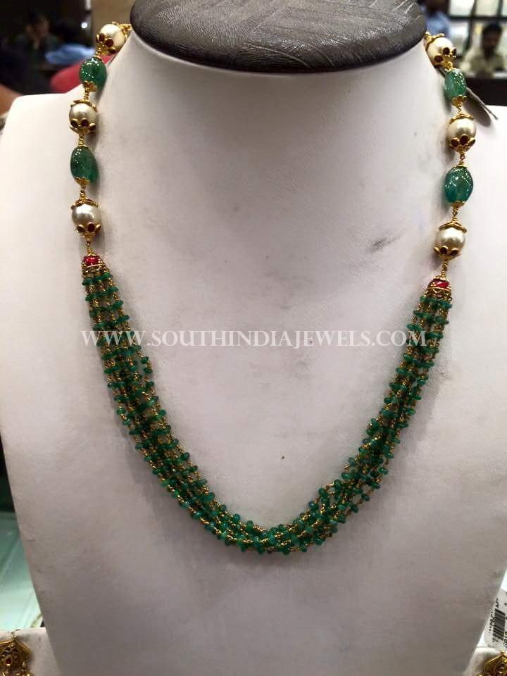 Simple Gold Emerald Mala