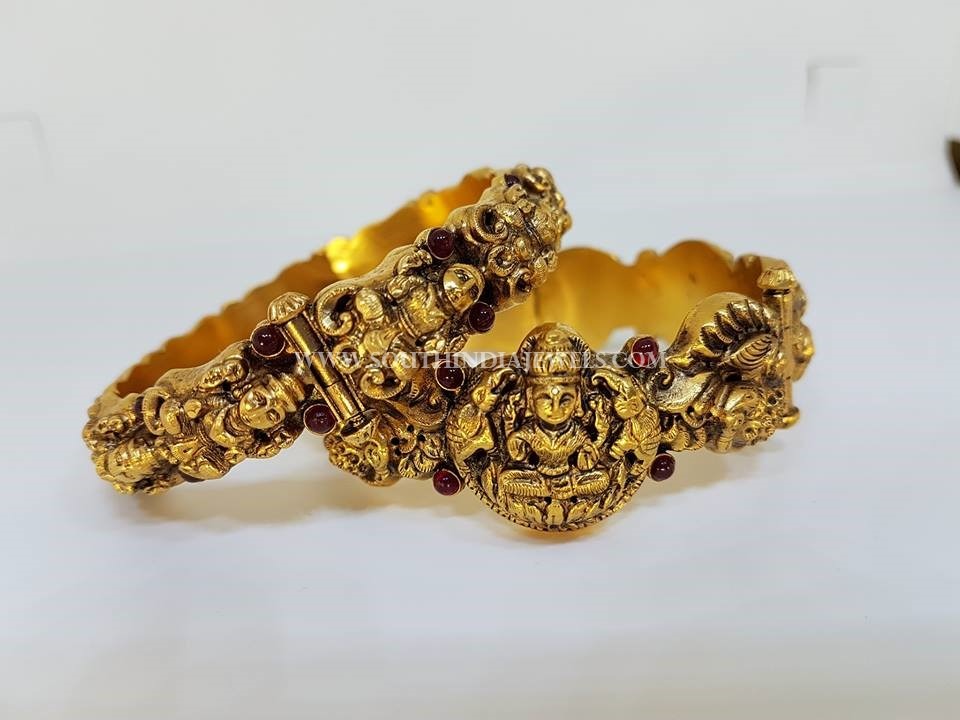 Gold Temple Bangles From Kothari Jewellery