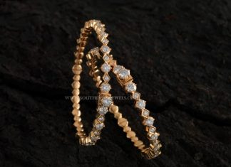 Single Line Diamond Bangle From Aabushan Jewellery