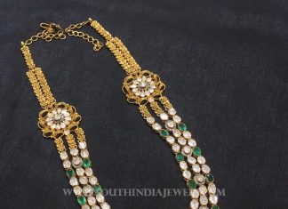 Gold Step Necklace Model