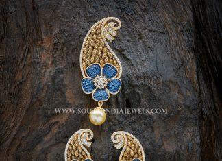 Imitation Zircon Sapphire Pendant
