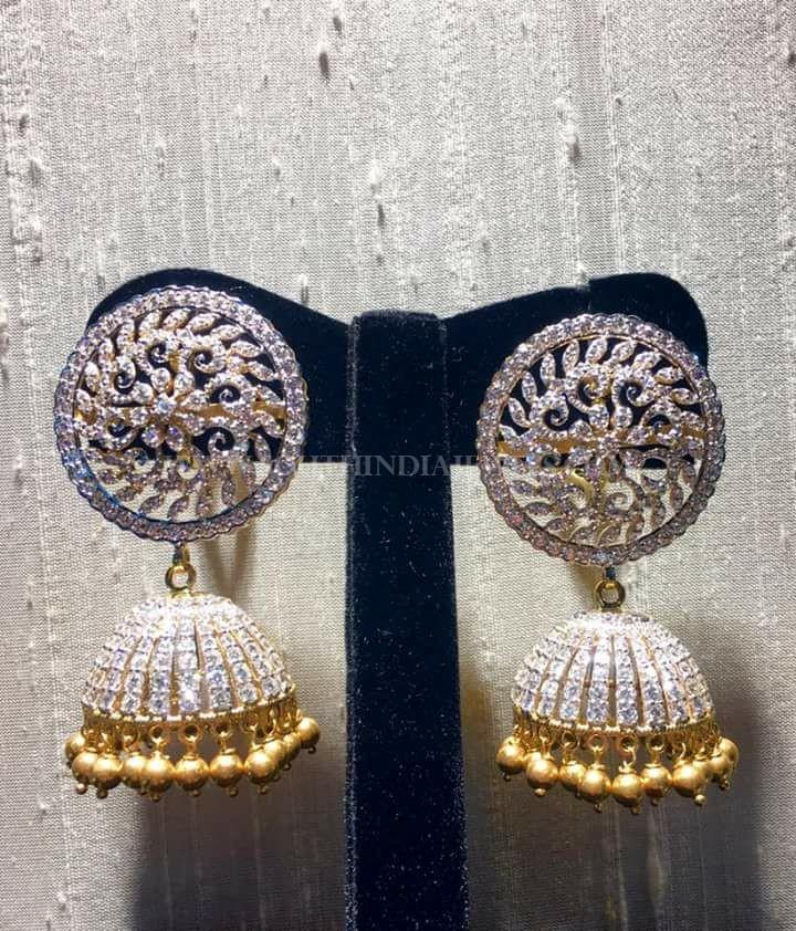 Bold Diamond Jhumka