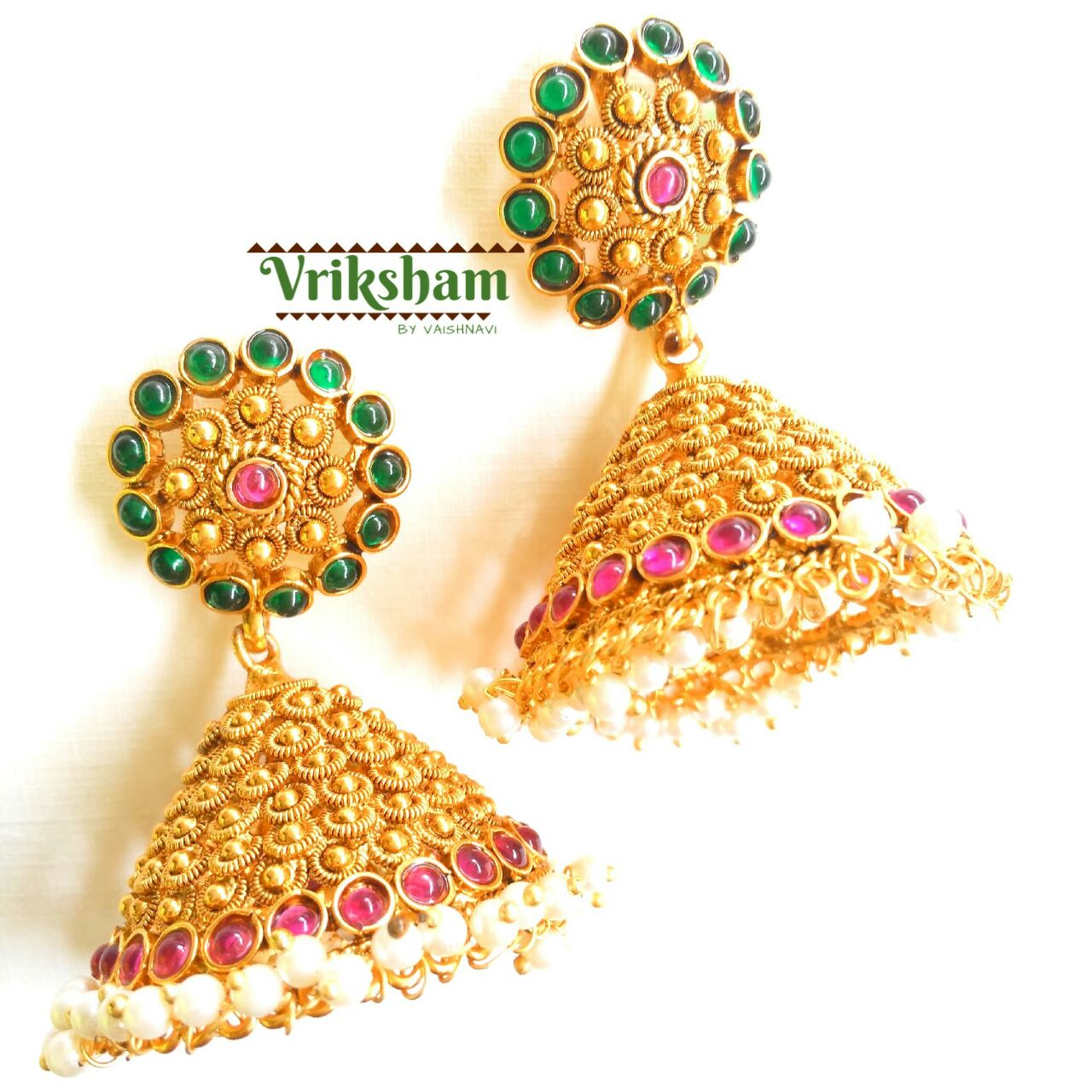Antique Jhumka From Vriksham