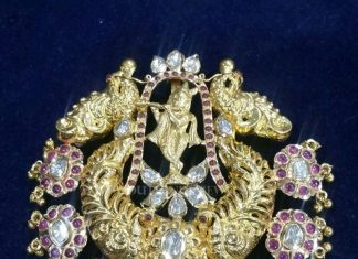 Antique Gold Ruby Krishna Pendant