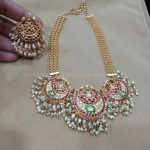 Beautiful Gold Necklace And Earrings From Vajra Jewellery