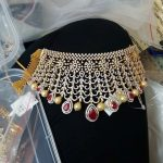 Bold Diamond Bridal Choker Necklace