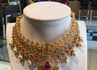 Grand Gold CZ Stone Choker