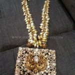Gold Designer Pearl Cluster Necklace
