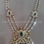 Gold Step Necklace Model From Amaravati Jewellers