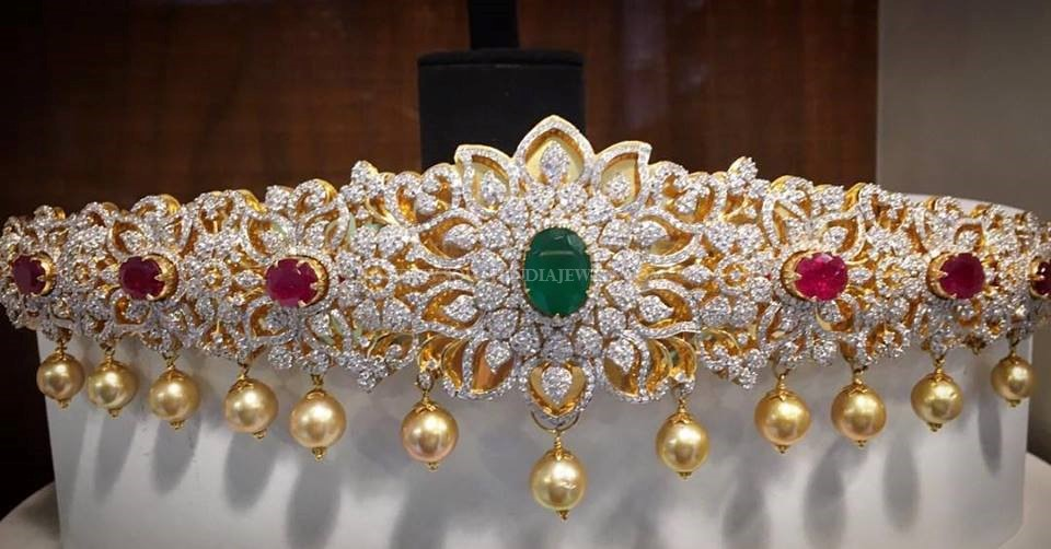 Diamond Vadanam From Nakoda Jewellers