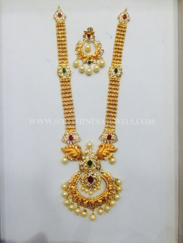 Gold Pachi Haram Design From Nakoda Jewellery