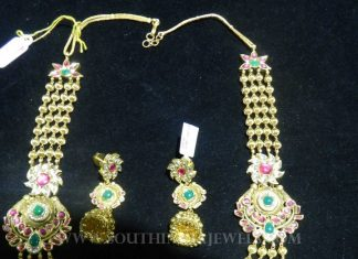 Gold Ball Haram Earrings & Set