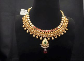 Gold Designer Choker From Sumangali Jewellers