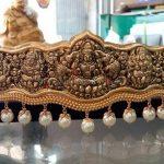 Gold Nakshi Work Lakshmi Vadanam