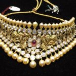 Gold Nakshi Pearl Choker Model