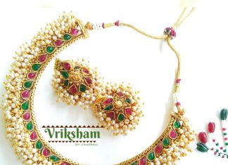 Pearl Choker Necklace Set From Vriksham