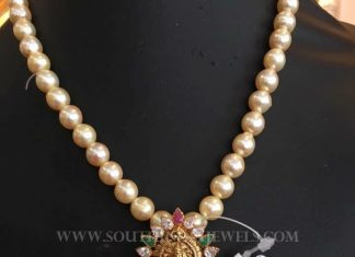 Pearl Mala With Antique Pendant