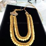 Two layer Step Gold Kasu Haram Design
