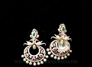 Diamond Chandbali From Vajra Jewellery