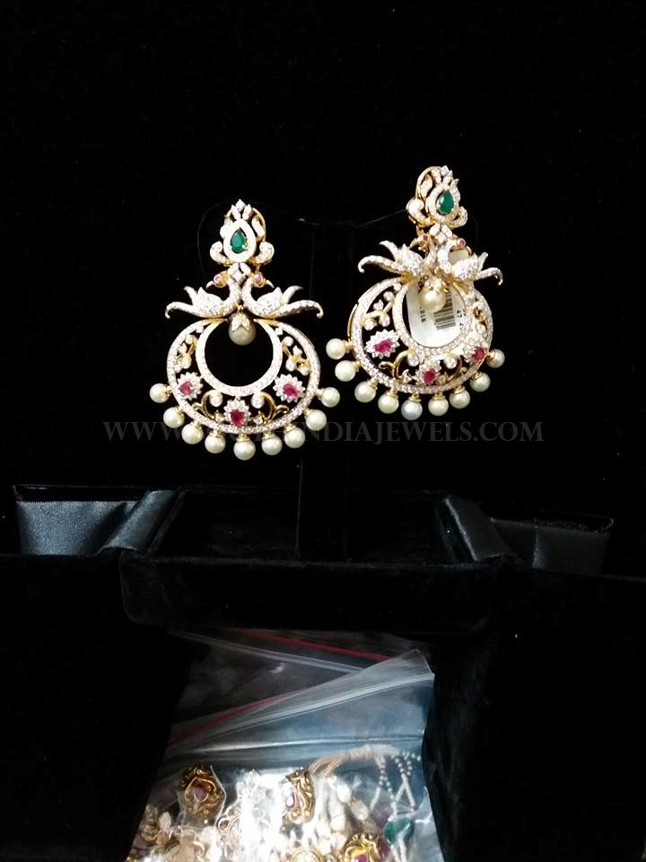 Diamond Chandbali From Vajra Jewellery