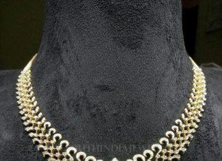 Diamond Emerald Necklace From Sri Balaji Jewellers