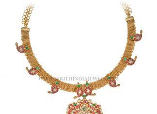 Gold Antique Ruby Attigai Model