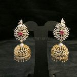 Gold Diamond Peacock Jhumka Model