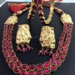 Gold Plated Silver Antique Necklace Set