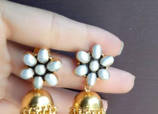 Gold Plated Pure Pearl Jhumka