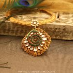 Designer Gold Kundan Necklace From Manubhai Jewellers