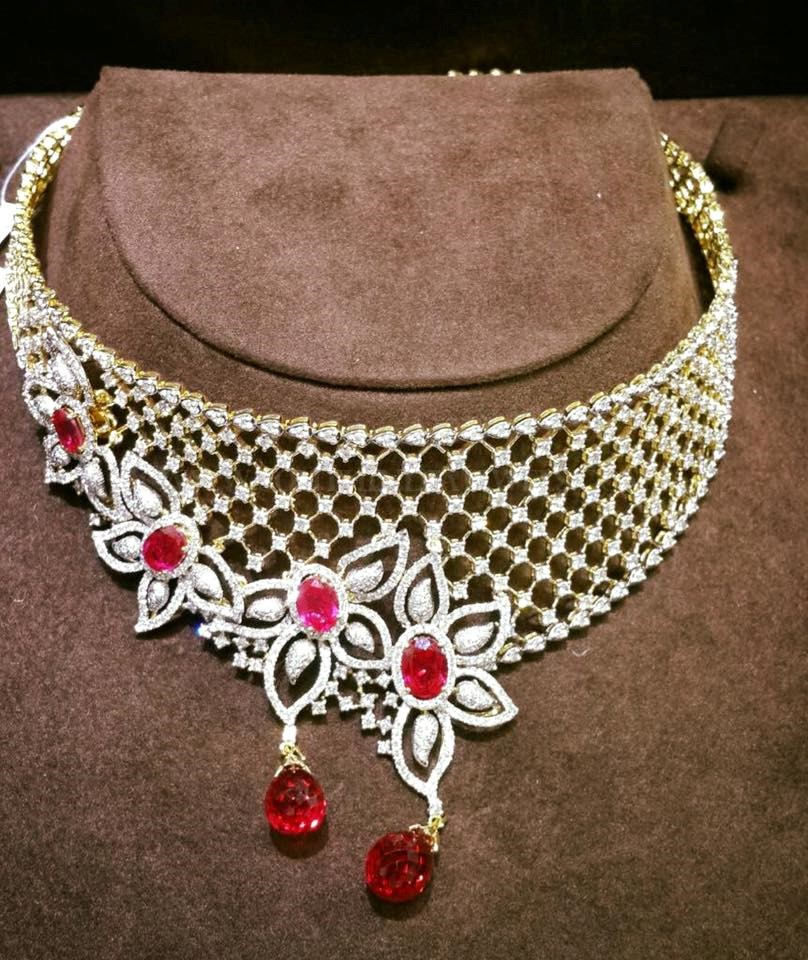 Diamond Choker From Lakshmi Jewellery