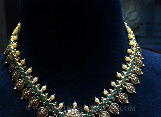 Gold Antique Uncut Diamond Necklace