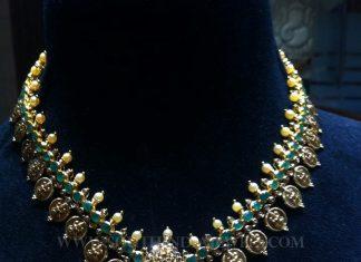 Gold Antique Uncut Diamond Necklace