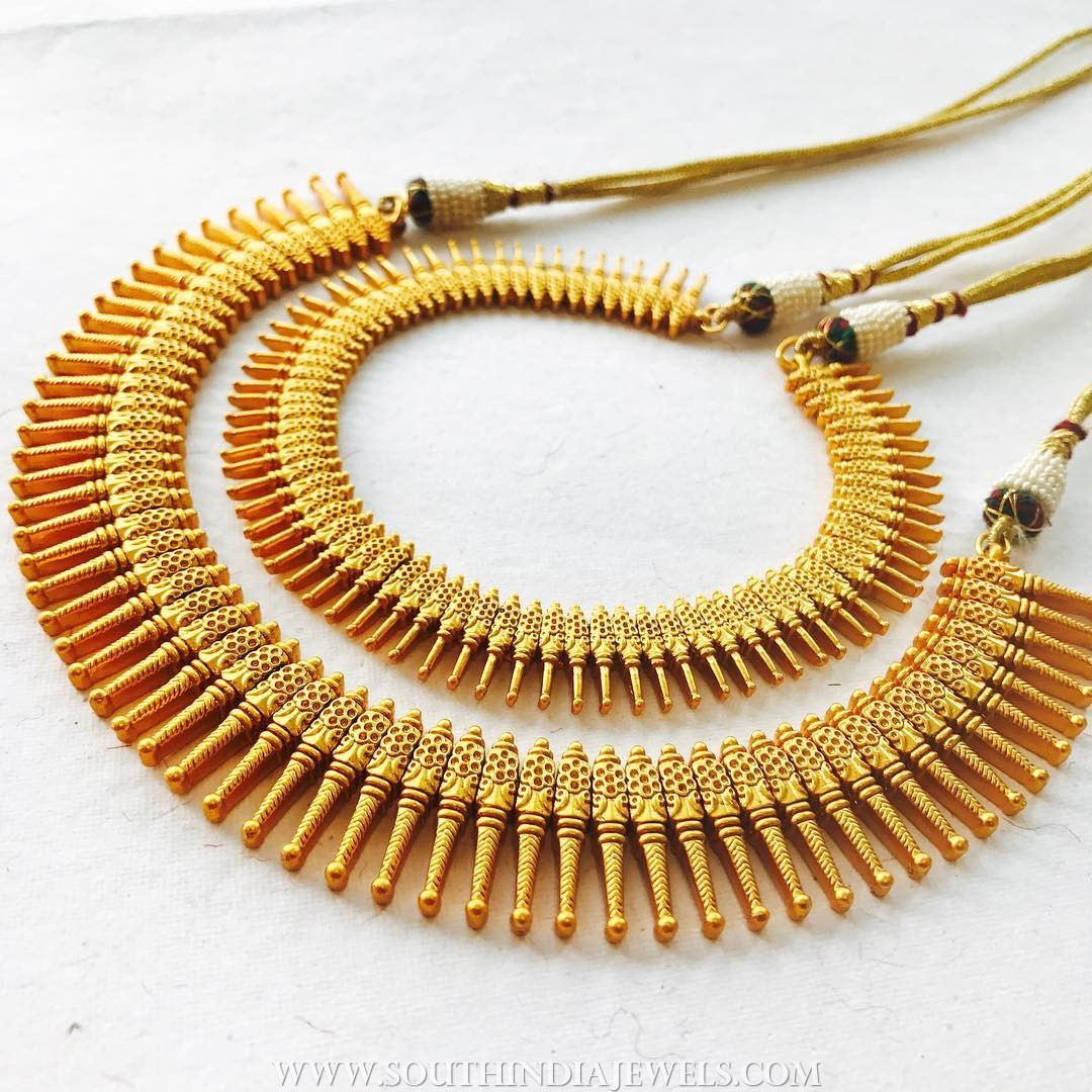 Gold Plated Spike Necklace Collections