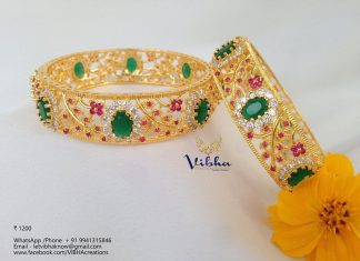 Gold Plated Stone Bangle From Vibha