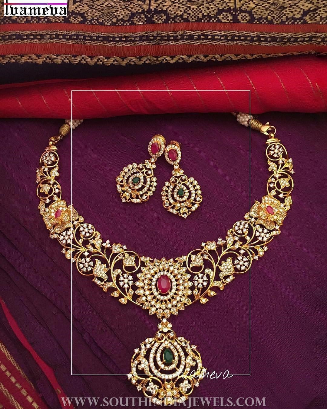 Gold Plated Traditional Necklace From Tvmeva