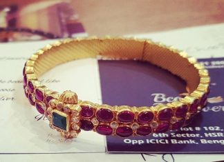 Antique Ruby Bangle From Bcos Its Silver