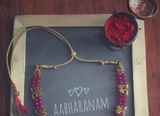 Beaded Kemp Necklace From Abharanam