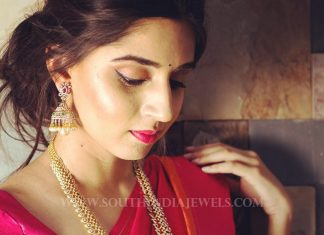 Diamond Haram & Jhumka From Manjula Jewels
