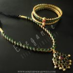 Gold Plated Pure Silver Attigai & Bangle