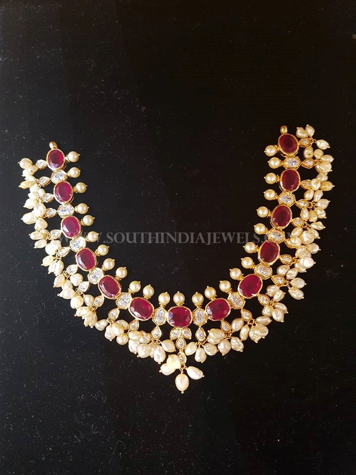 Fancy Gold Pachi Necklace From Bhavani Jewellers
