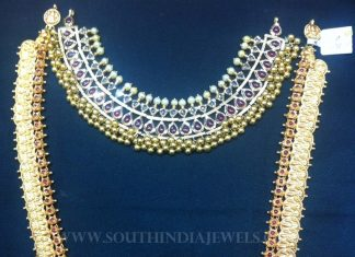 Gold Antique Jewellery Set From Tirupati Jewellers
