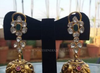 Gold Antique Jhumka From Manjula Jewels