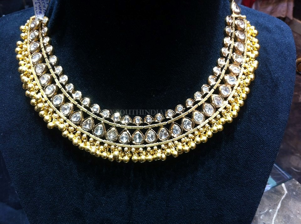 Gold Choker Necklace From Tirupati Jewellers