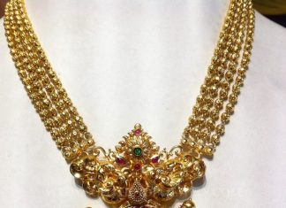 Gold Necklace With Beautiful Kemp Pendant