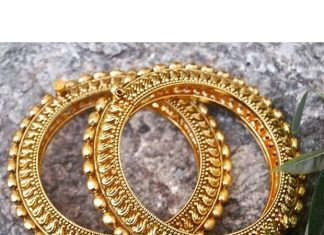 Gold Plated Kada Bangle From Orne Jewels