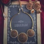 Traditional Kemp Necklace Set From Abharanam