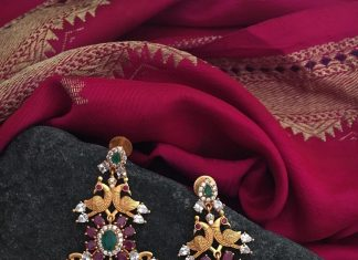 Gold Plated Designer Earrings From Tvmeva