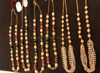 Gold Pearl Mala Collections